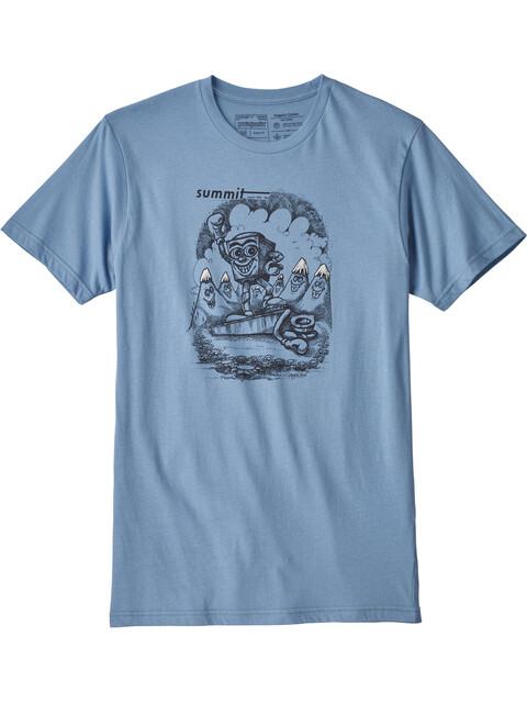 Patagonia M's Nut vs. Piton Organic T-Shirt Railroad Blue